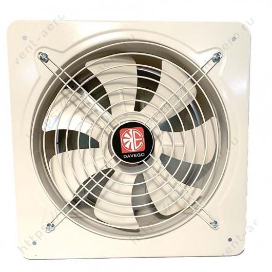 Вентилятор осевой настенный DAVEGO DF 400 с обратным клапаном
