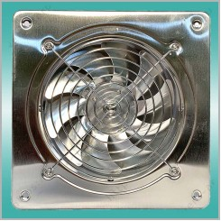 DF-F Davego осевой вентилятор нерж. на квадратном фланце