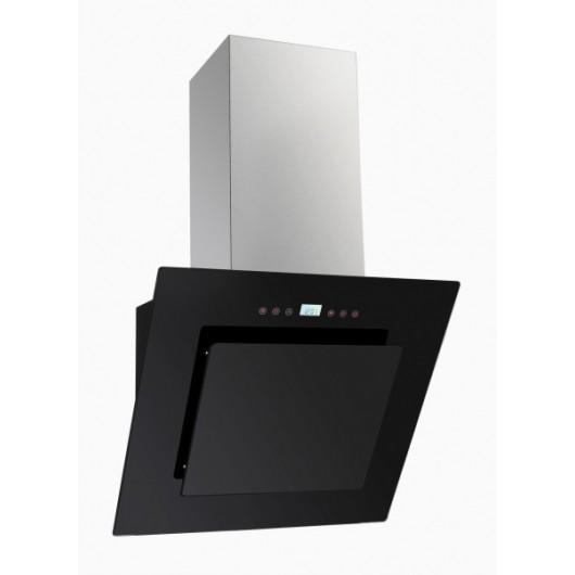 Вытяжка кухонная наклонная AMARI  Armada 60 черный/черное стекло  (сенсорная)